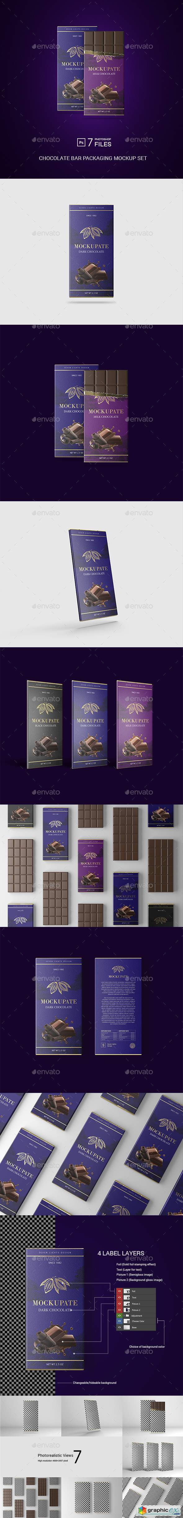 Chocolate Bar Packaging Mockup 22613172