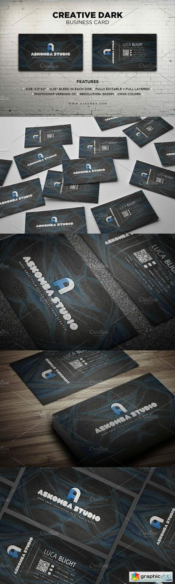 Creative Dark Business Card 2924915