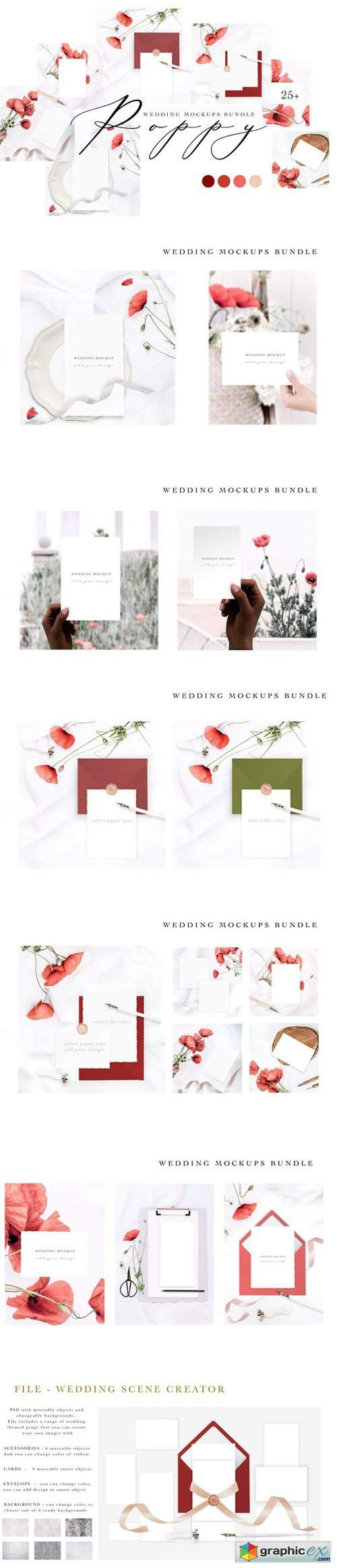 POPPY. WEDDING MOCKUPS BUNDLE