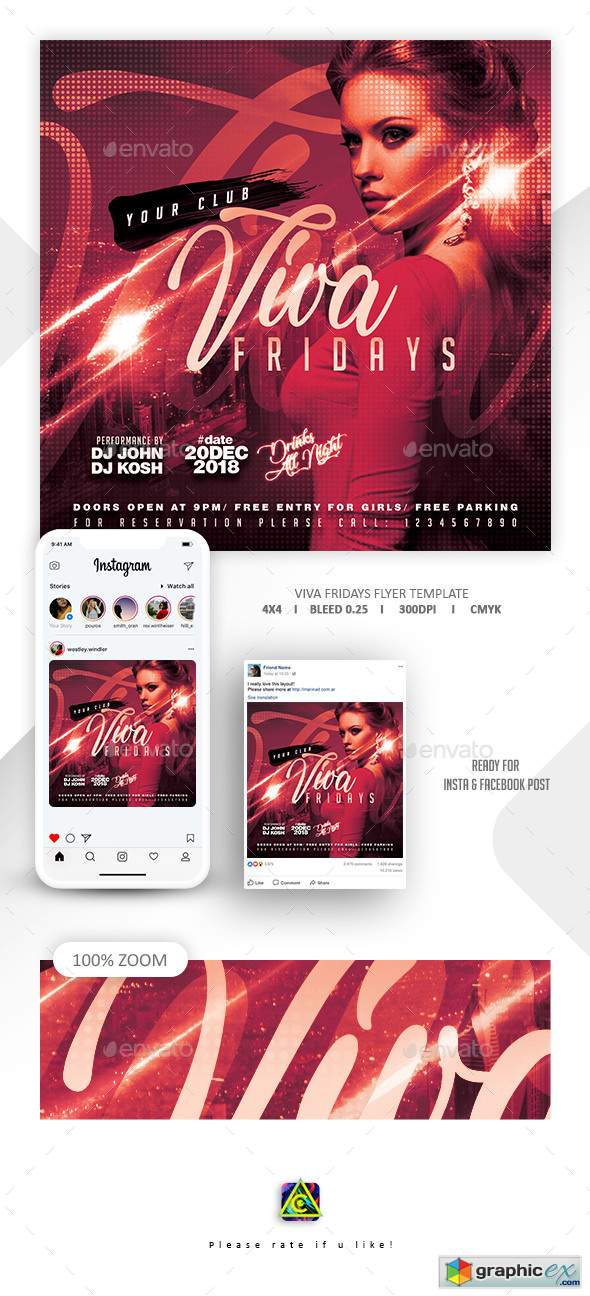 Night Club Flyer Template 22631529