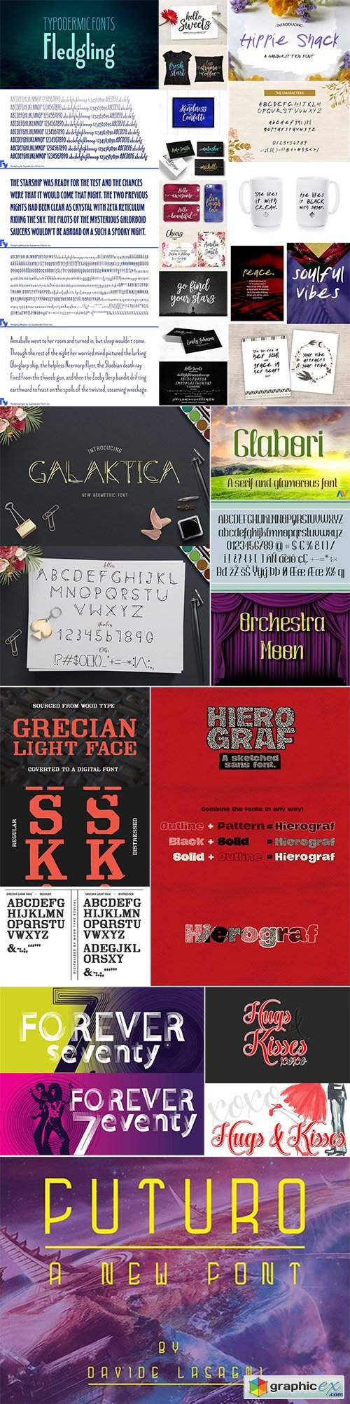 Mix Fonts Bundle 63