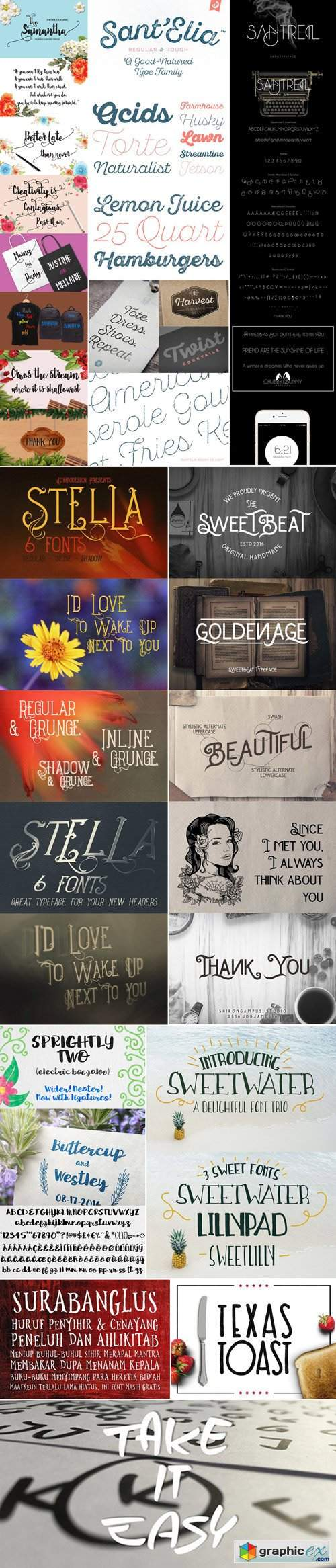 Mix Fonts Bundle 66