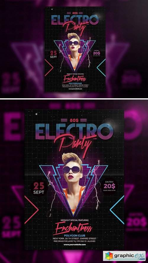 80's Electro Party Flyer 664123