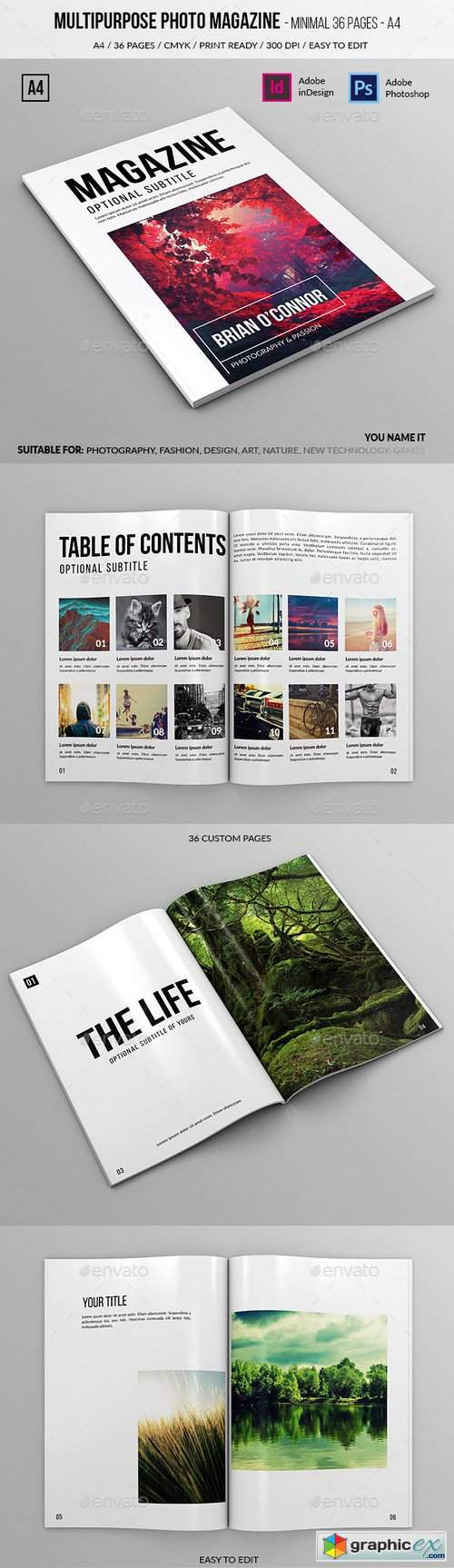 Multipurpose A4 Photo Magazine 36 Pages