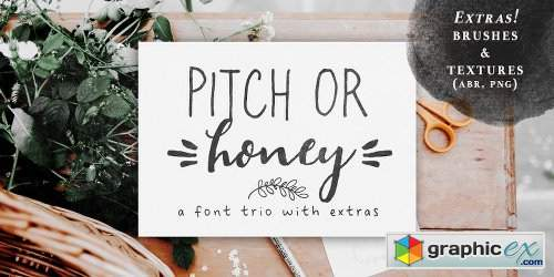 Pitch or Honey Family - 7 Fonts