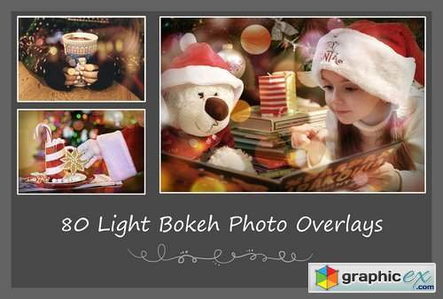 80 Light Bokeh Photo Overlays