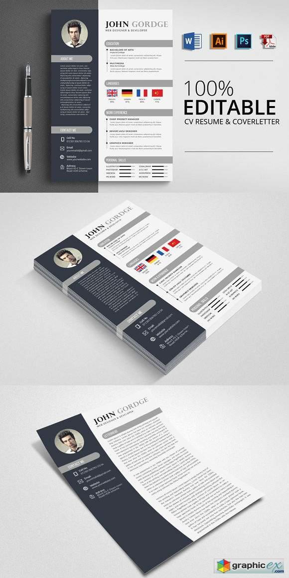 Creative CV Resume Word Design