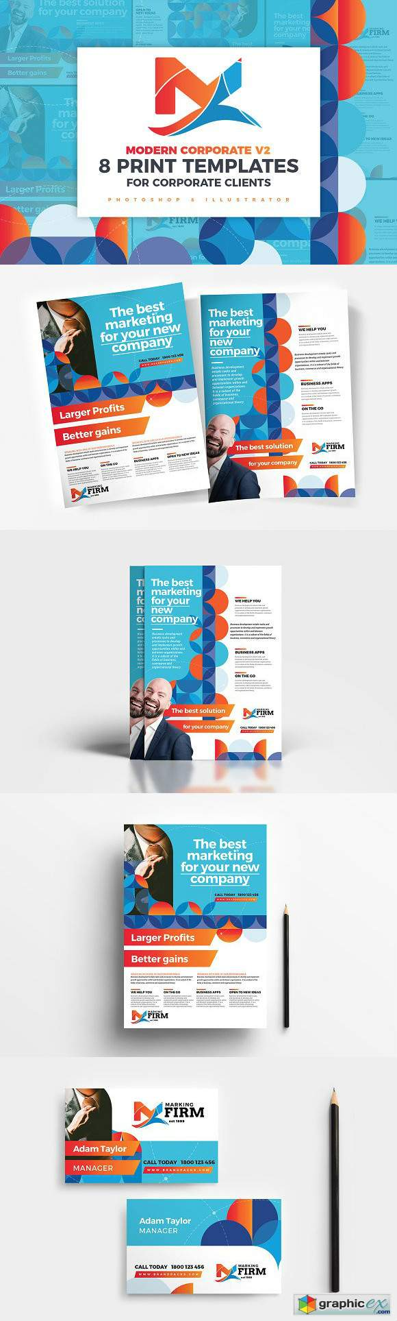 Modern Corporate Templates Pack v2