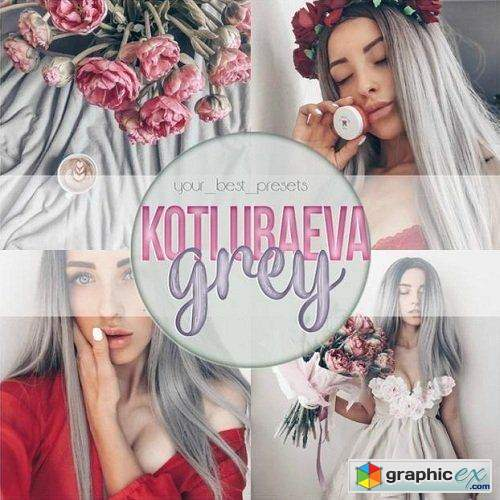 Kotlubaeva - Grey Lightroom & Mobile Presets
