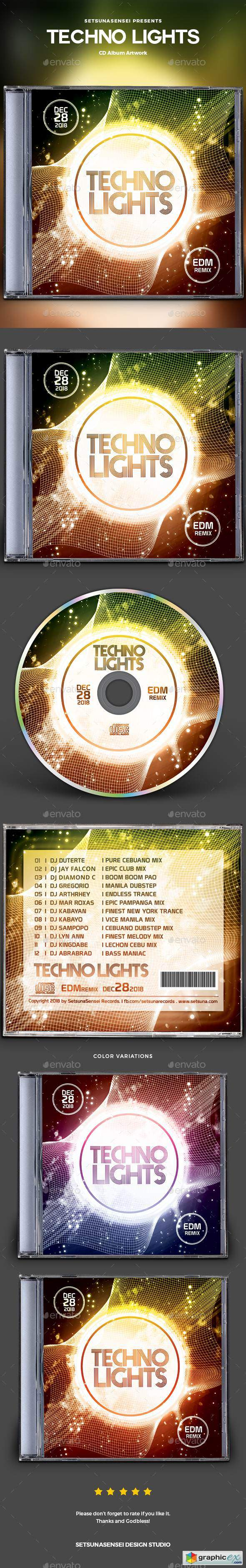 Techno Lights CD Album Artwork