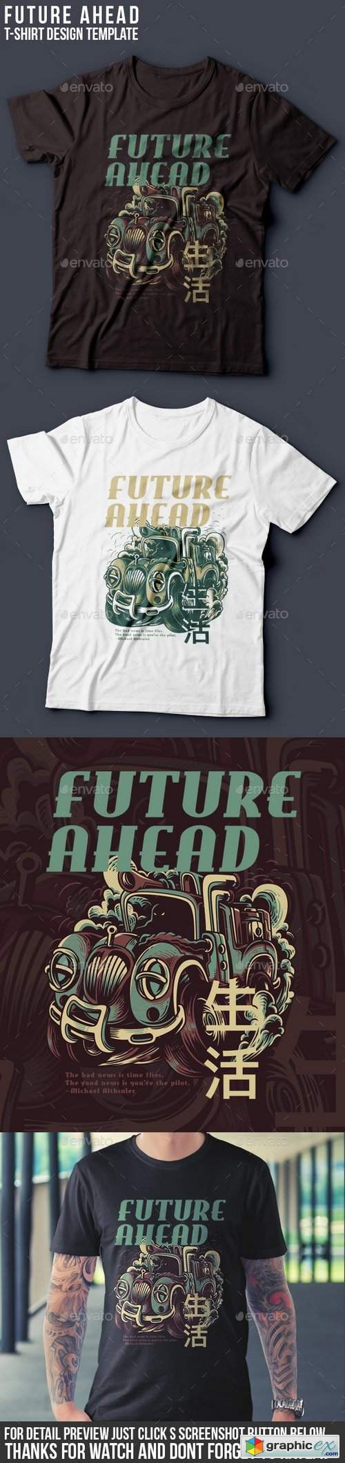 Future Ahead T-Shirt Design