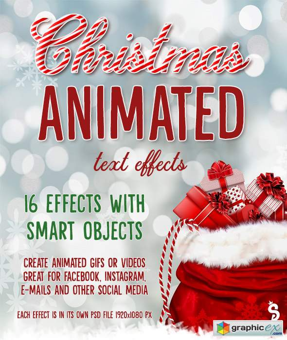 Christmas Animated Text Effects » Free Download Vector Stock