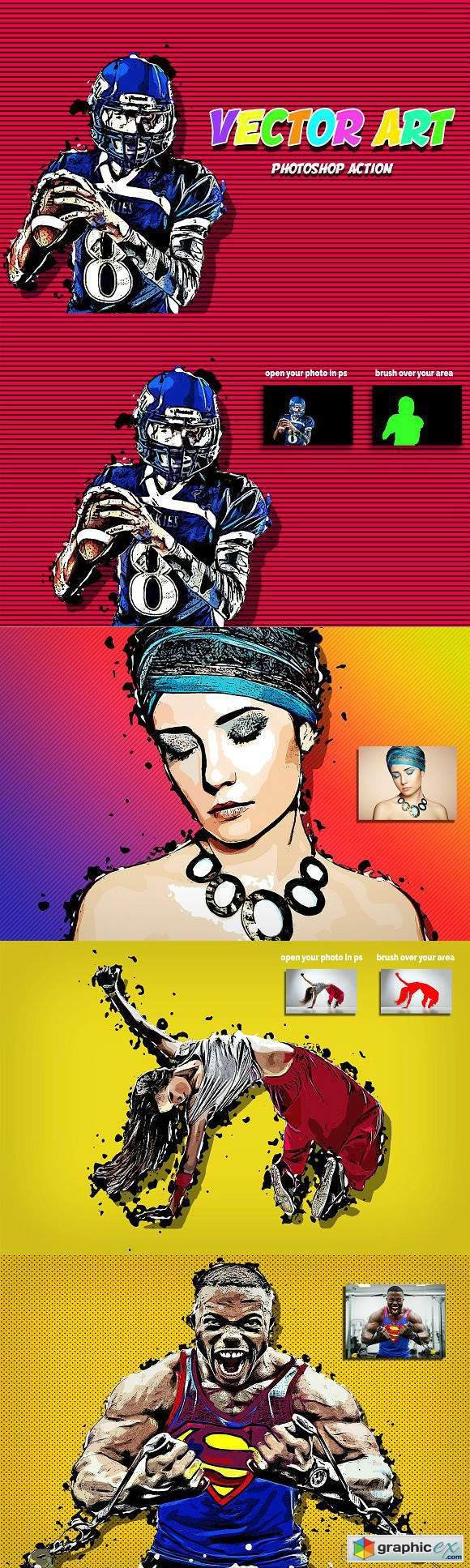 Vector Art Photoshop Action 3070947