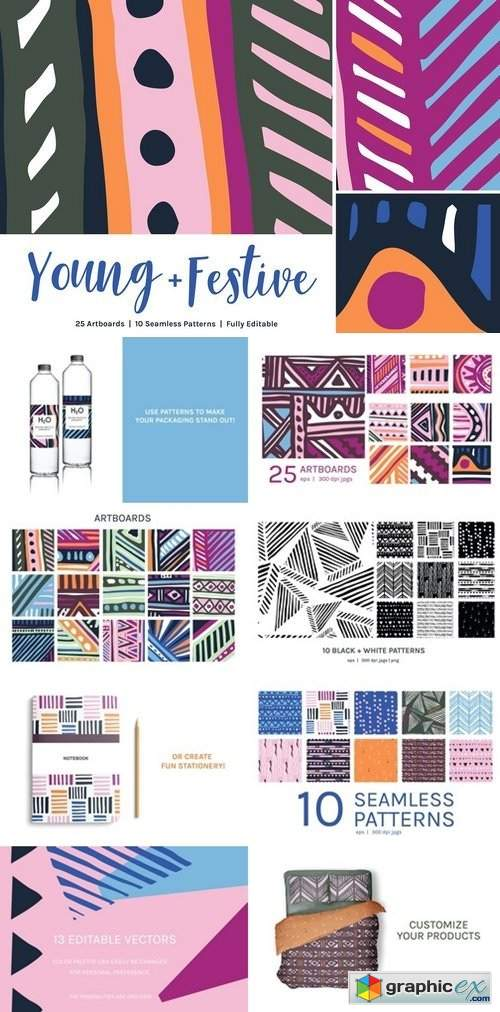 Young Festive | Artboards + Patterns