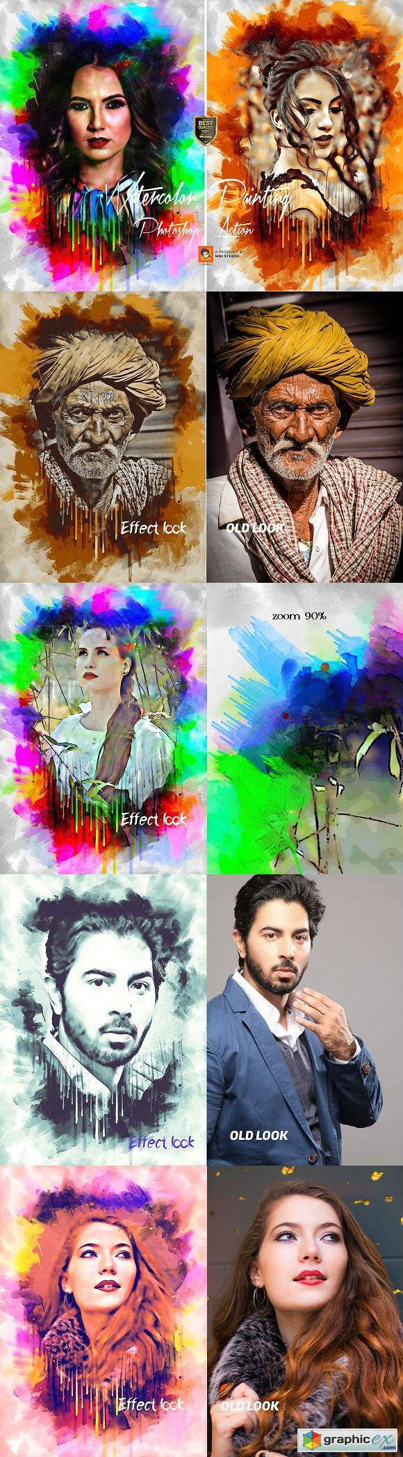 Watercolor Painting Photoshop Action 3143144