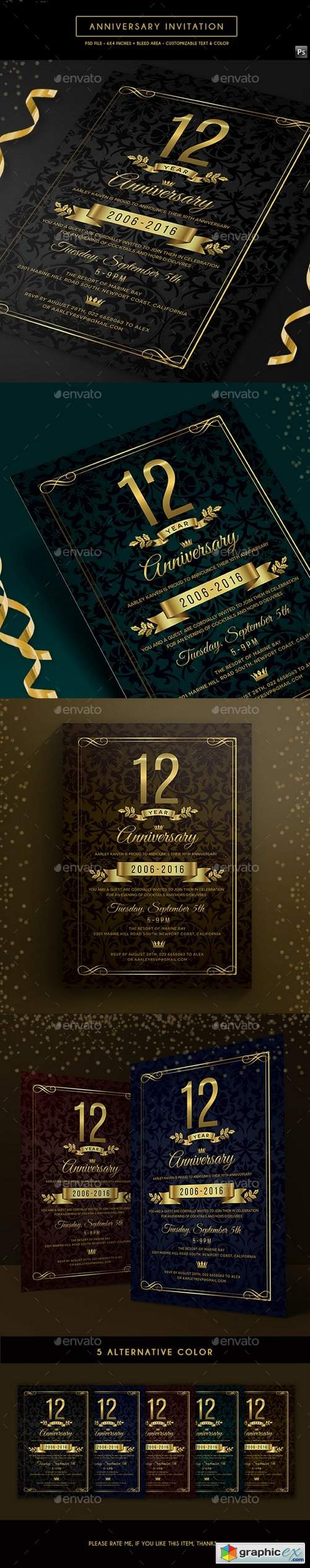 Anniversary Invitation 19770240