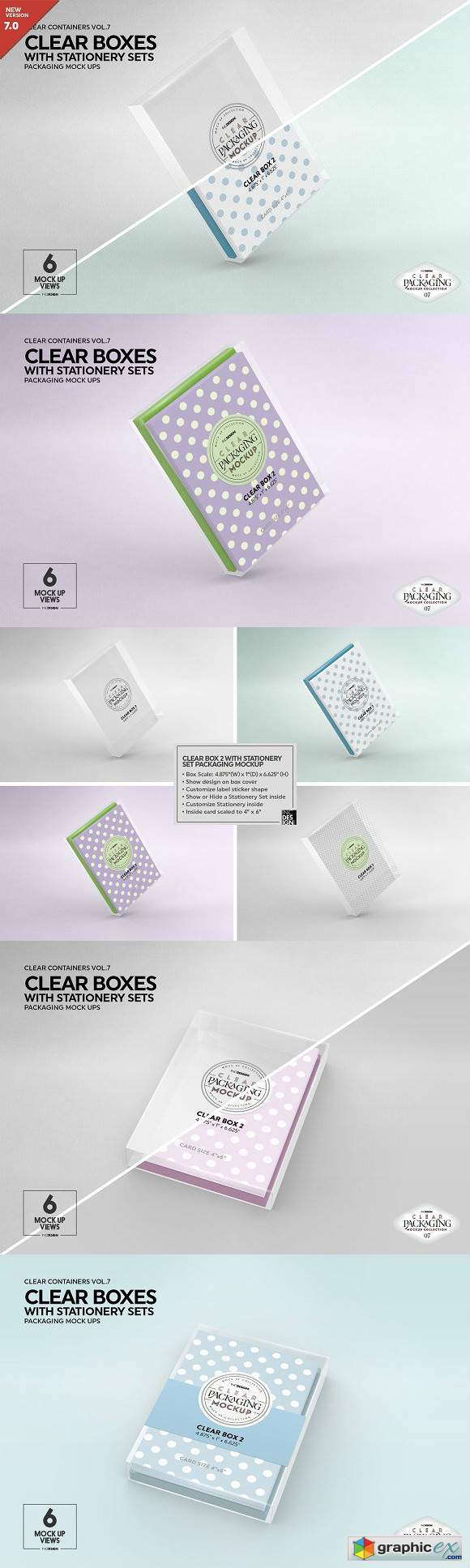 Clear Box Set Packaging Mockup