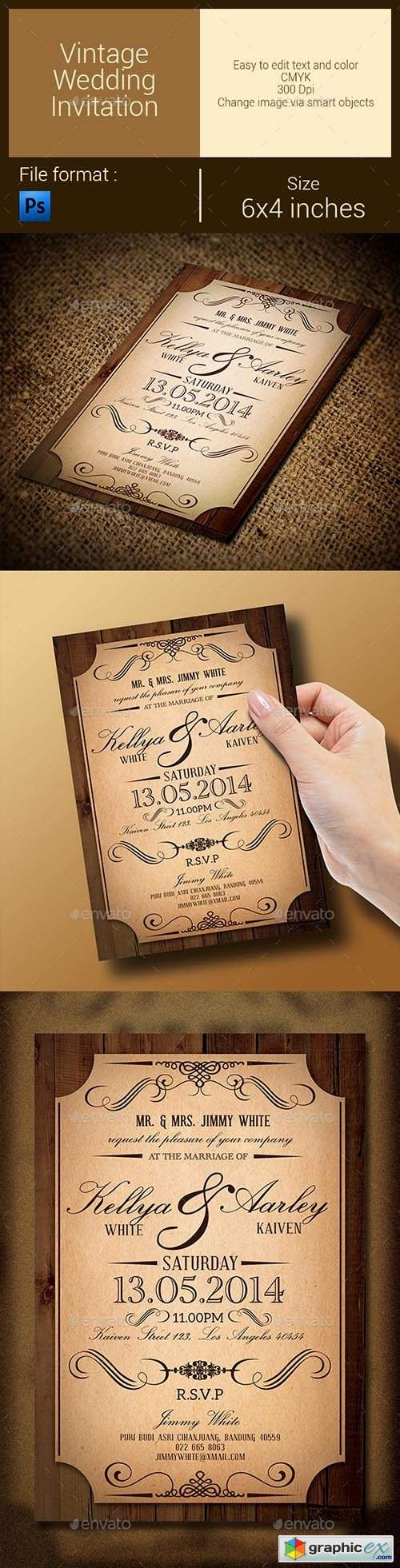 Vintage Wedding Invitation 9615090