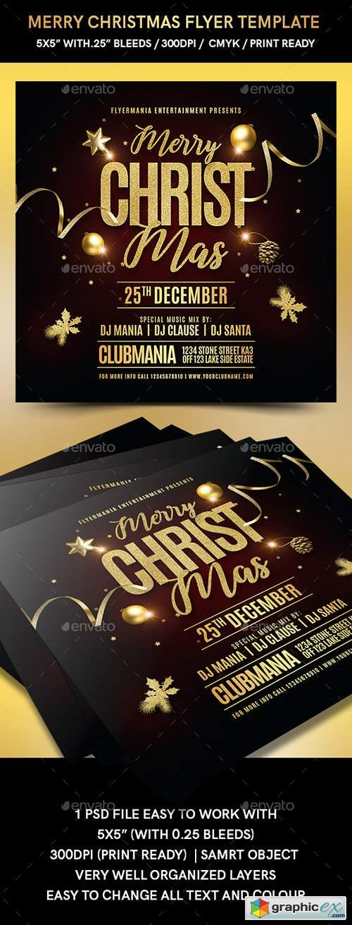 Merry Christmas Flyer Template 22856025