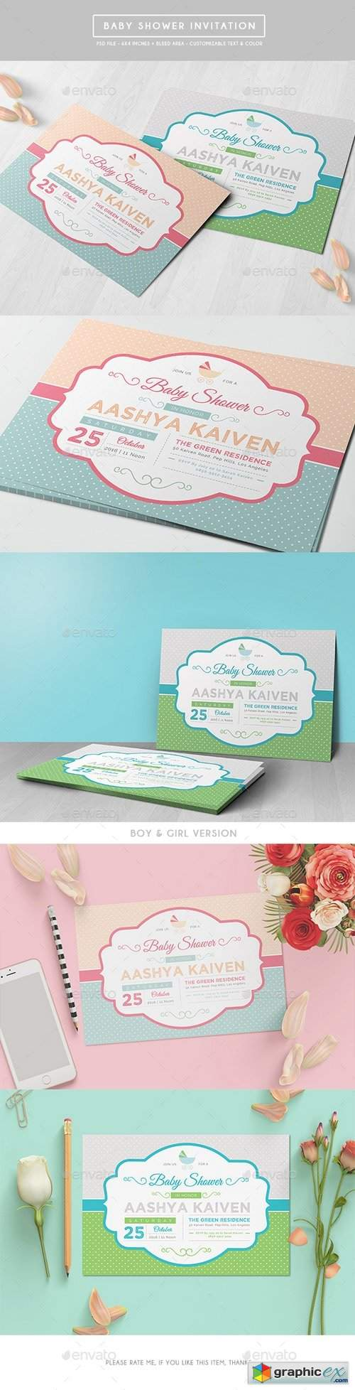 Baby Shower Invitation 17443487