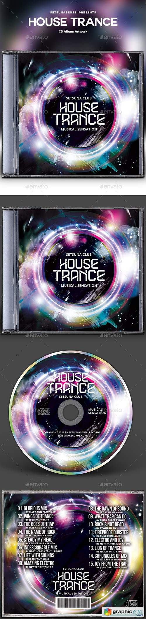 House Trance CD Album Artwork