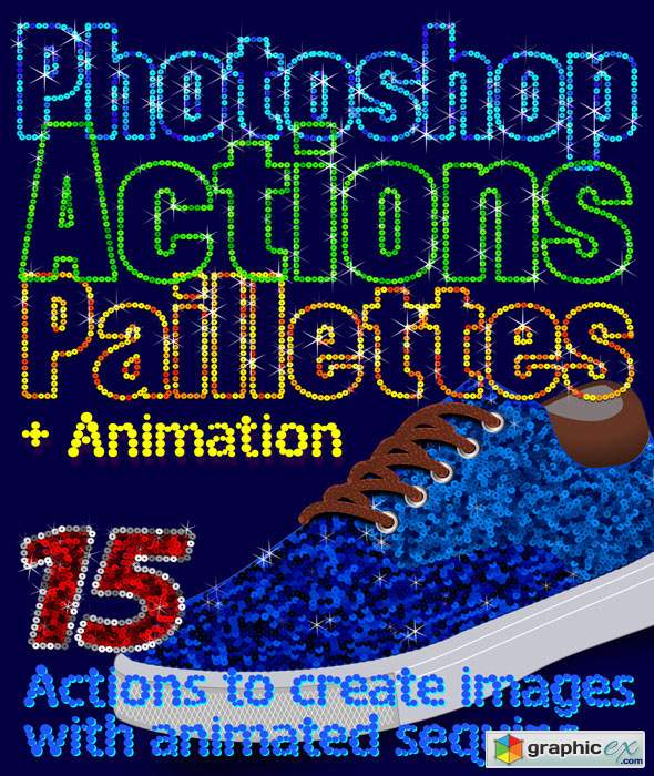 Paillettes Sequins Photoshop Actions