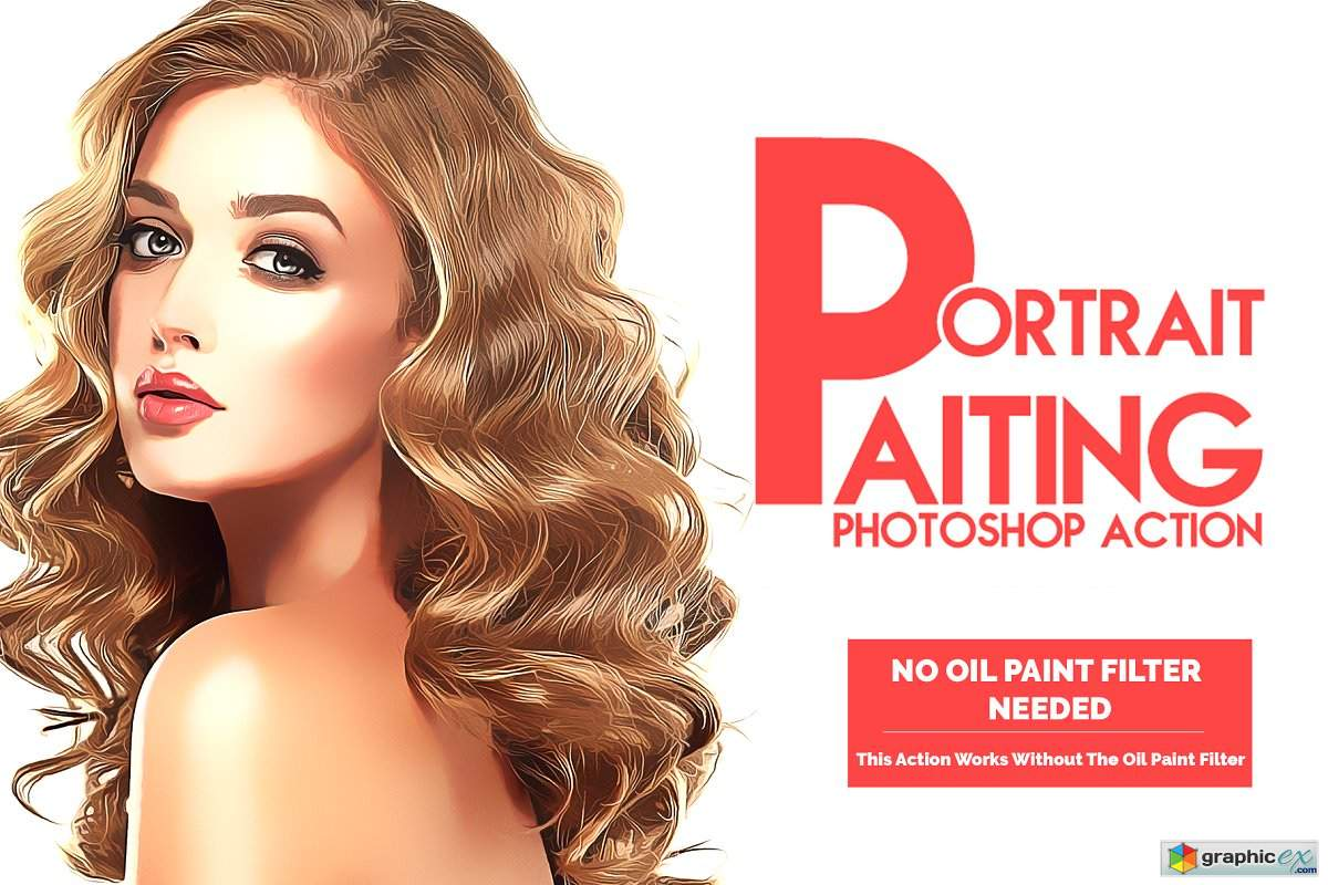 Portrait Painting Photoshop Action 3194274 » Free Download