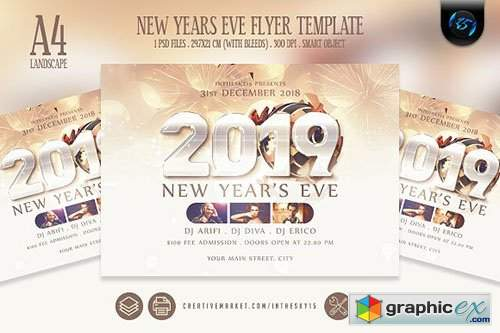 New Years Eve Flyer Template 3192429