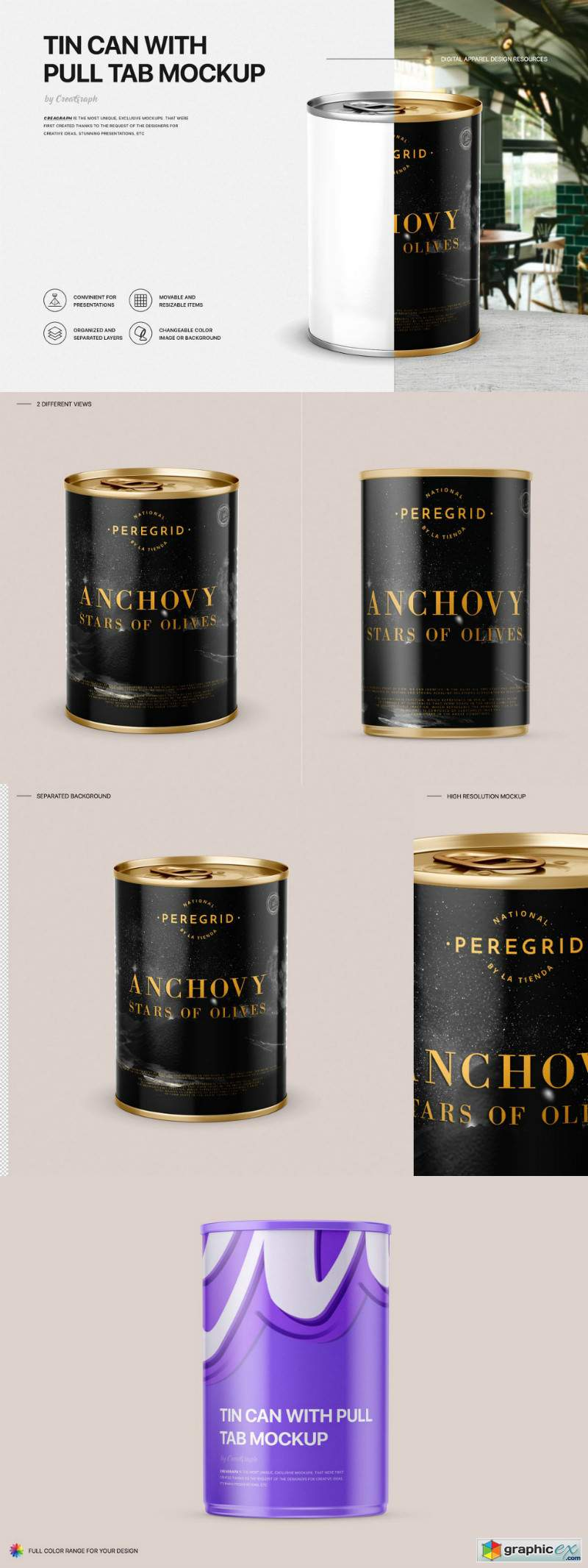 Tin Can Mockup Set
