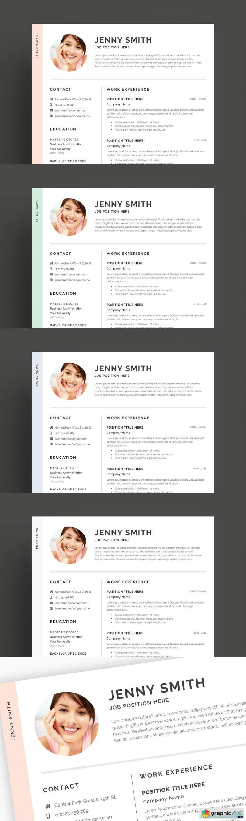 Resume Template Word Modern Clean CV 2684486