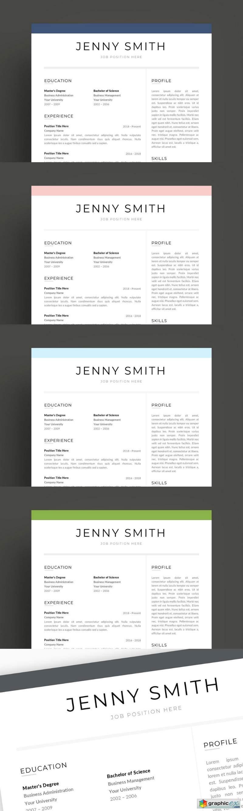 Resume Template Word Modern Clean CV 2684483