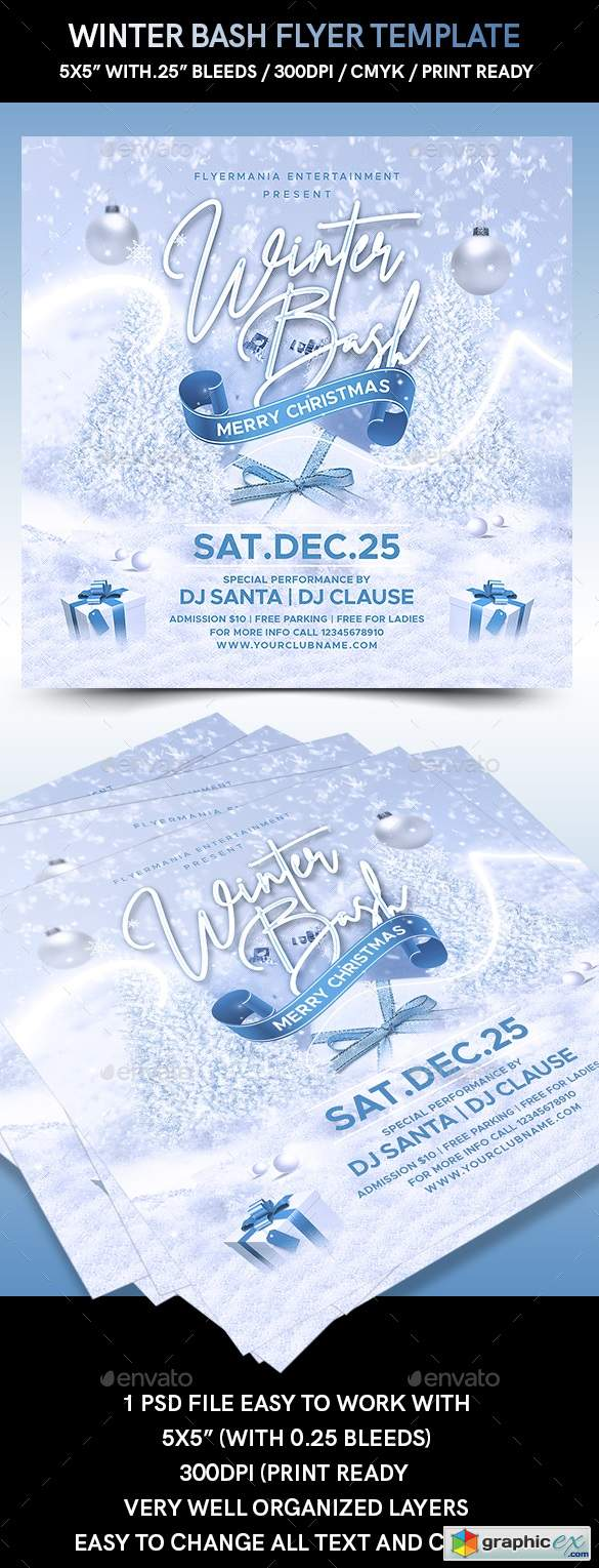 Winter Bash Flyer Template 22879417