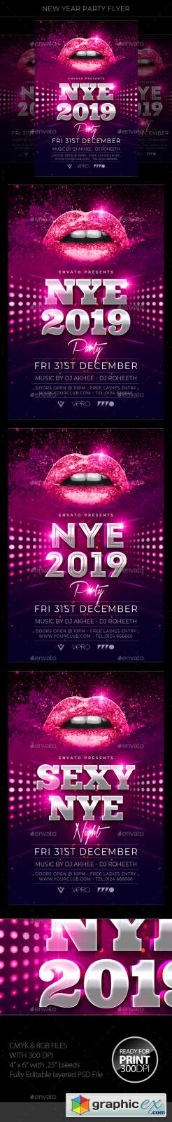 New Year Party Flyer 22799379