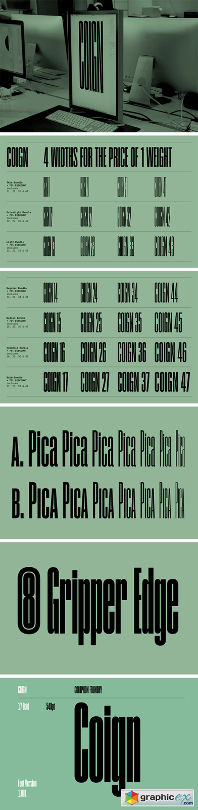 Coign Pro Font Family