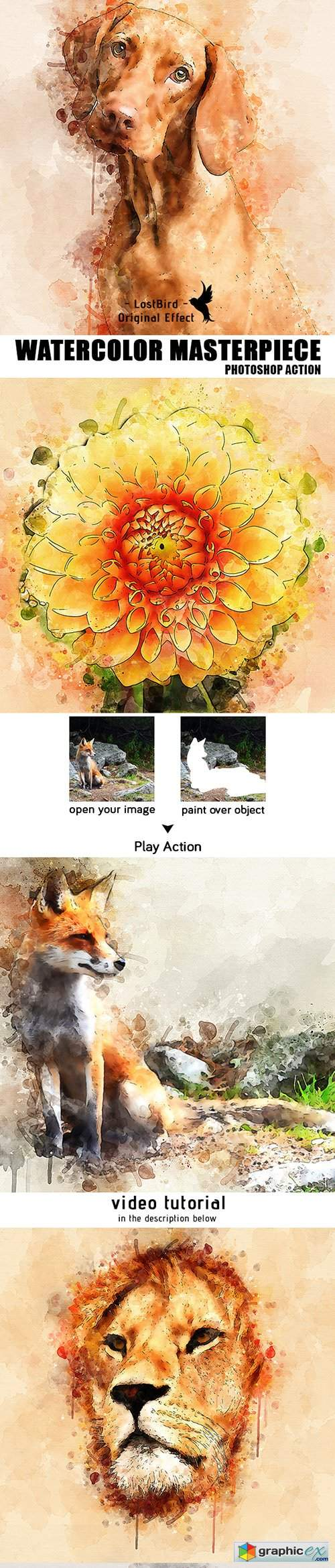 Watercolor Masterpiece - Photoshop Action