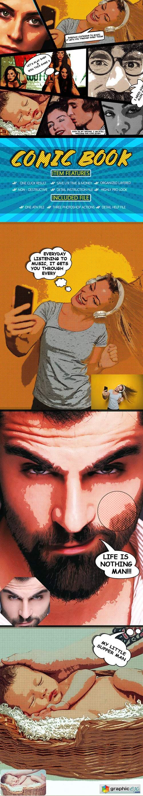 Comic Book Photoshop Action 22908999
