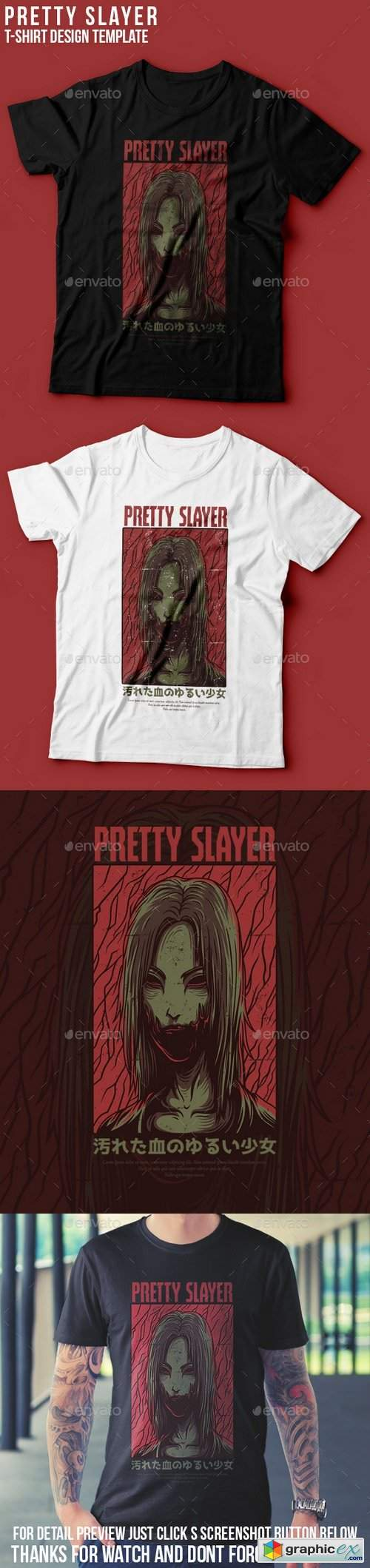 Pretty Slayer T-Shirt Design