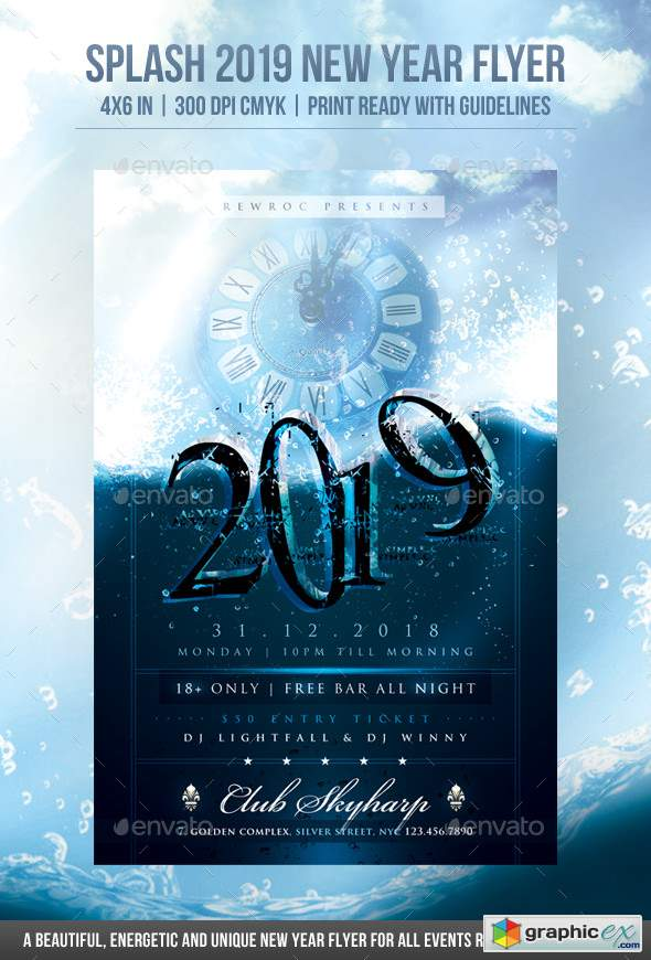 Splash 2019 New Year Flyer