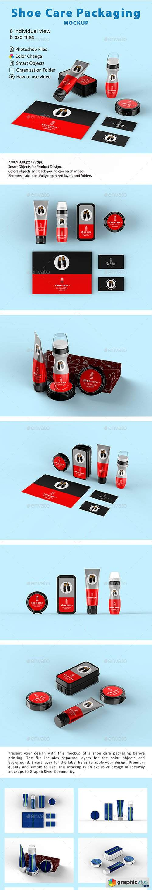 Shoe Care Packaging Mockup
