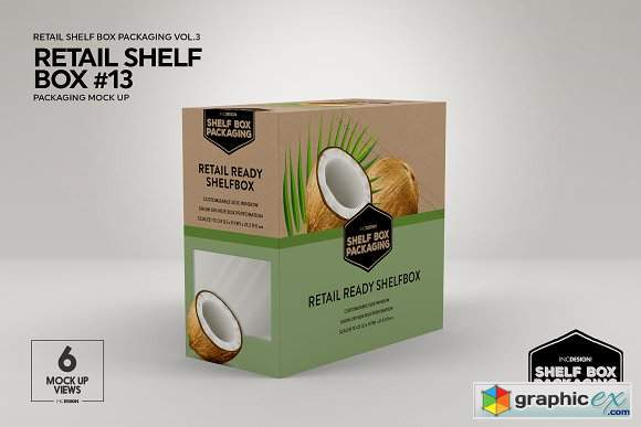 Retail Shelf Box Packaging Mockups3 Free Download Vector Stock