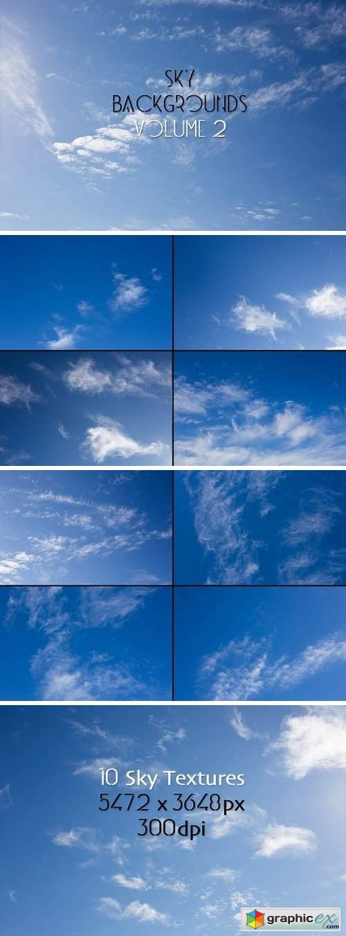 Sky Backgrounds Vol. 2