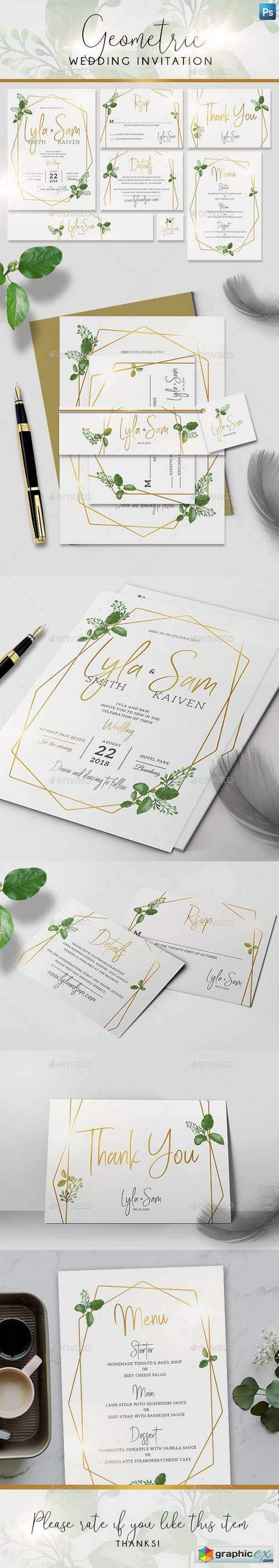 Geometric Wedding Invitation 21620415