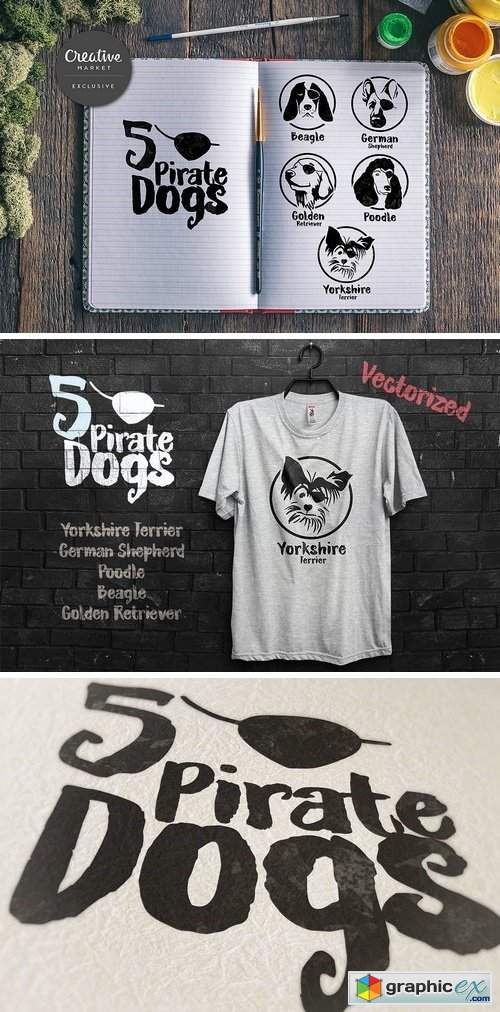 5 Pirate Dog face