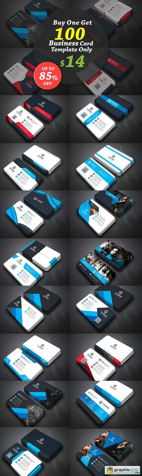 100 Business Cards Bundle 3243405