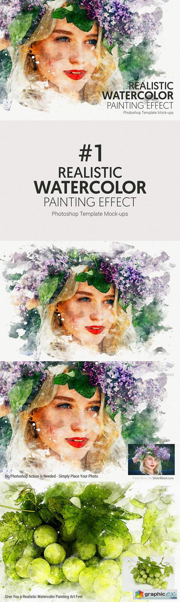 1 Watercolor Photoshop Mock-ups