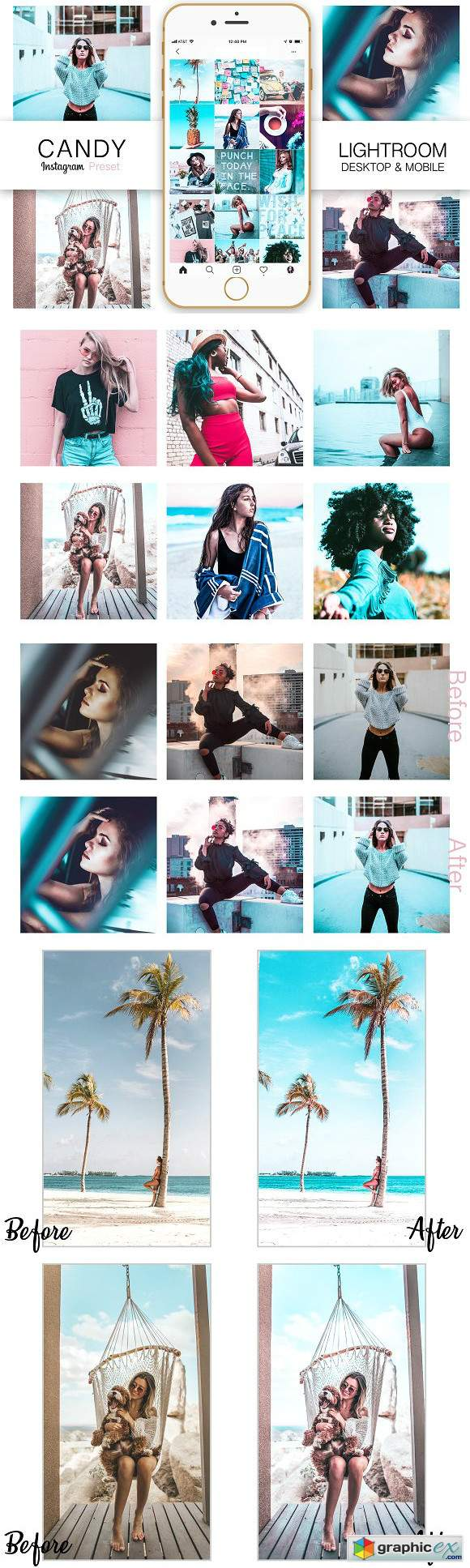 Teal Instagram Blogger Presets