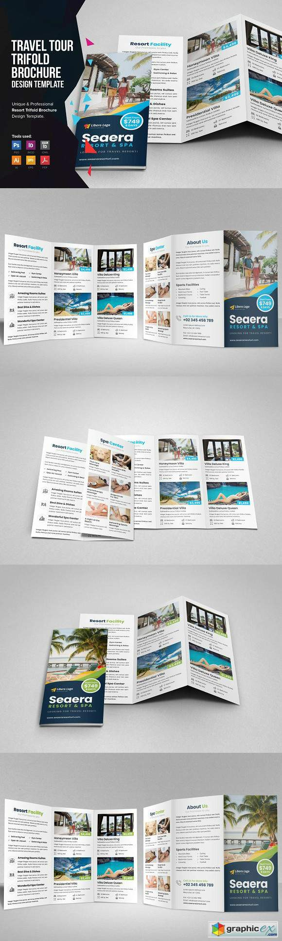 Travel Resort Trifold Brochure v2
