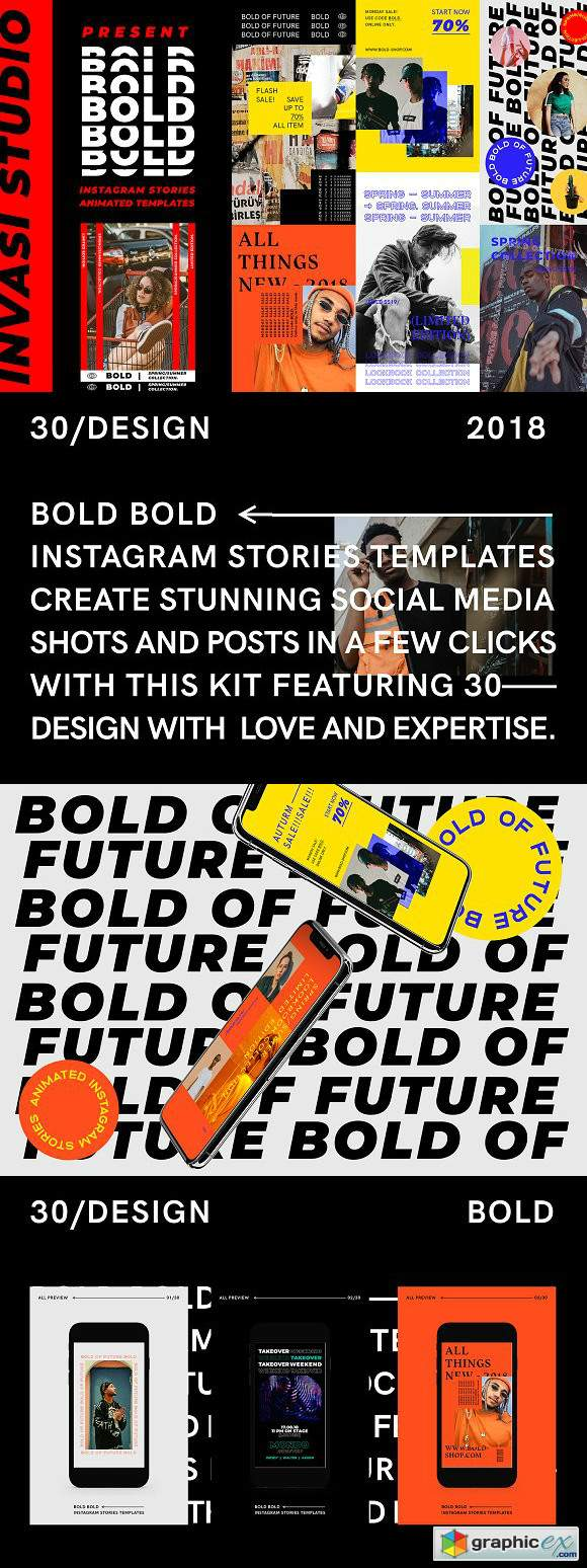 BOLD - Instagram Stories Animated