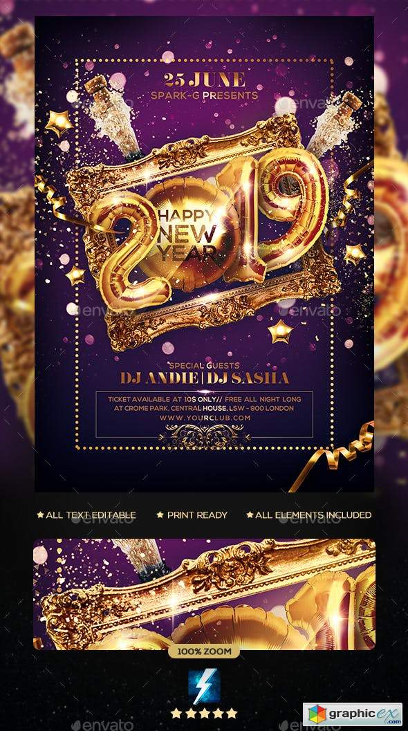 New Year Party Flyer 23076104
