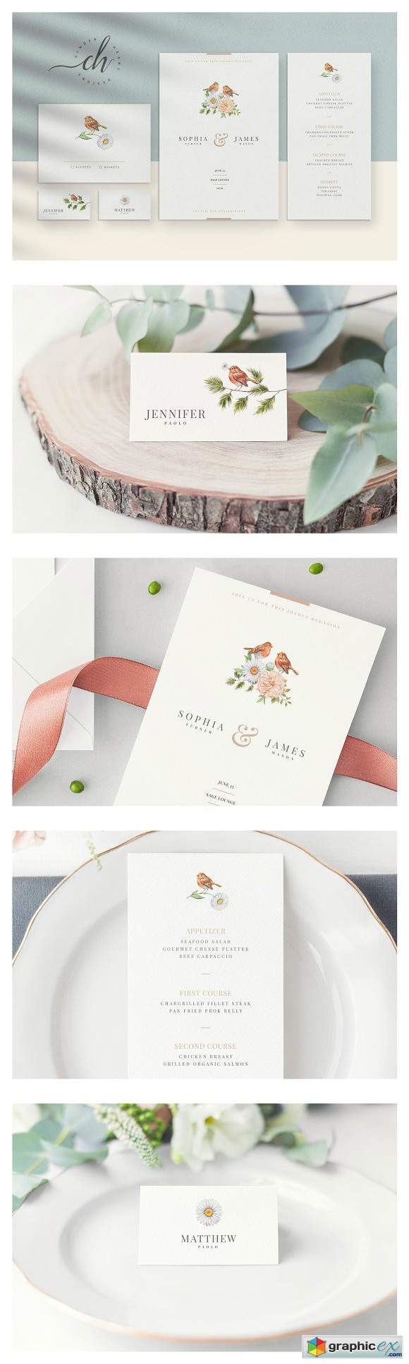 Beryl Wedding Invitation Suite